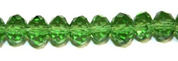 72pcs x 8mm Green faceted glass rondelle beads -- S.G06 -- 3005629